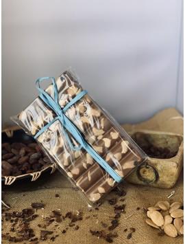 Tabletón de chocolate con leche - caramelo y Almendras