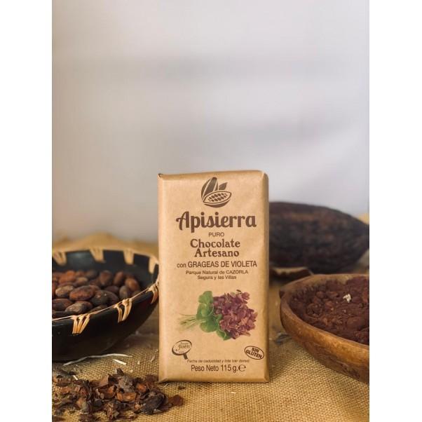 Chocolate con Grageas de Violeta