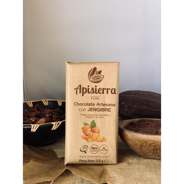 Chocolate puro con jengibre