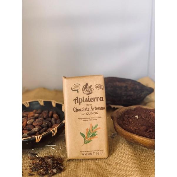 Chocolate puro con quinoa
